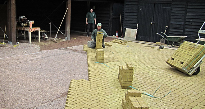SUDS block paving from FT Gearing Landscape Services