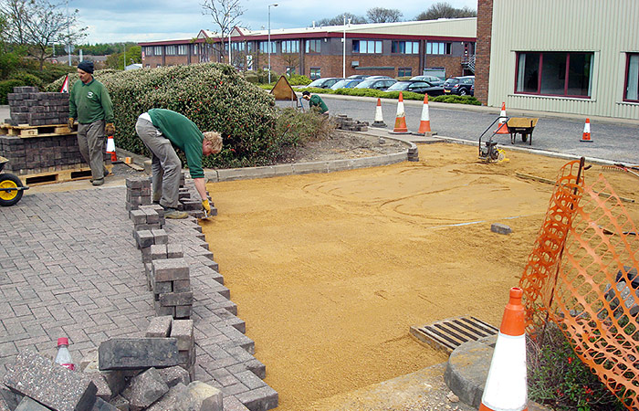 Small civils natural car park construction