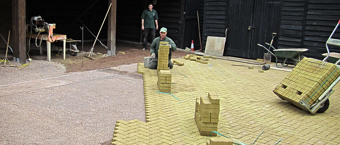 SUDS block paving